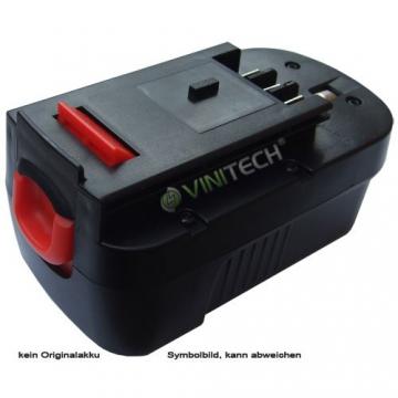 Vinitech Akku passend für Black & Decker Heckenschere Ni-Mh 18V 3000mAh - 1